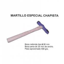 Martillo chapista boca lisa-peña 28 mm